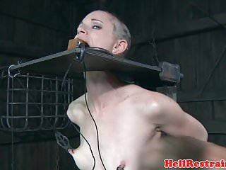 Preview 5 of Bondage sub dominated by electro nippleplay