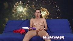 Celebrating the red white & blue with patriotic masturbation