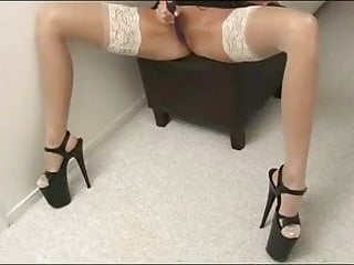 Anita S Heel And Stocking Tease