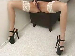 Anita's heel and stocking tease