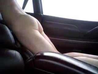 Fucking on leather carseats