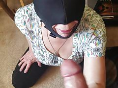 Mature mom stroking sucking young
