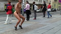 Michelle's friend more public nudity in the public streets