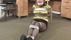 Full figured secretary taped up and robbed