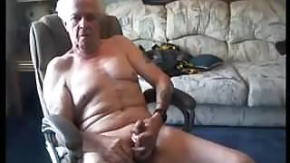 Old man of 70 age cum in cam