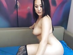 Thick Asian on Webcam