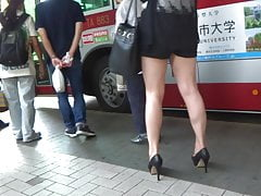Sexy Legs Walk 036