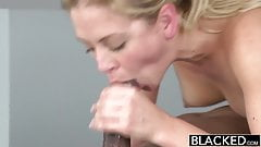 really. blonde african girl lick cock and facial but not clear
