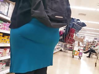 Phat Pawg Booty In Blue Dress