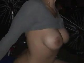 Brunette milf on a wild cock ride