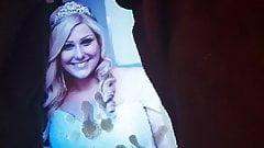 Cum tribute for BBW bride