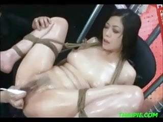 Tied Asian Teen Extreme Toys Orgasm