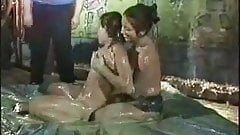 ENF - Mud fight girls stripping each other