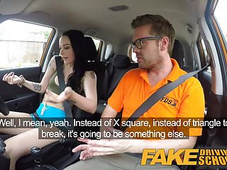 Preview 3 of Fake Driving School Cum covered pussy after gamer minx
