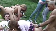 Russian students staged an orgy in the woods