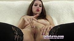 Lelu Love-POV Stockings Jerkoff Encouragement Masturbation