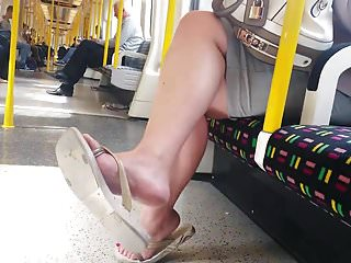 Free gay hidden tube - Candid nice feet in flip flops on tube faceshot