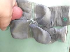 Cum on Her Wool Socks