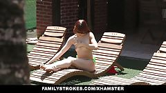 FamilyStrokes - Annoying Step-Sis Blackmailed By Brother