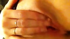 british girlfriend rubbing her clit for me