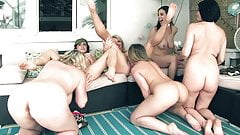 6 Girl Neighborhood Orgy! Carmen Vicky Jelena Maggie Cleo..