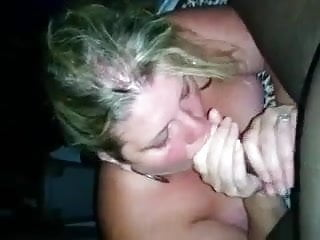 Married white BBW sucks black dick