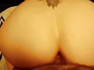 Big butt wife gets doggystyled and jizzed on.