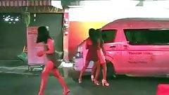 Streetwalking Ladyboys working in Pattaya