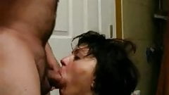 Wife dressed by her fat husband to love his cock and sauce