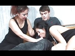 Extremely hot threesome with milf and sexy young couple