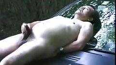 Asian train masturbation