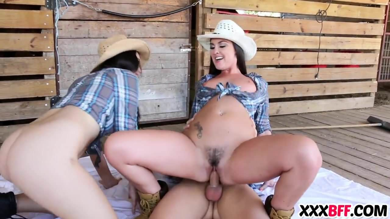 Horny Cowgirl Saddles Up