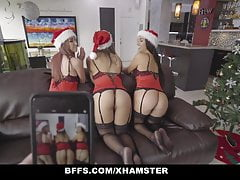BFFS - Slutty Bestfriends Fuck Santa