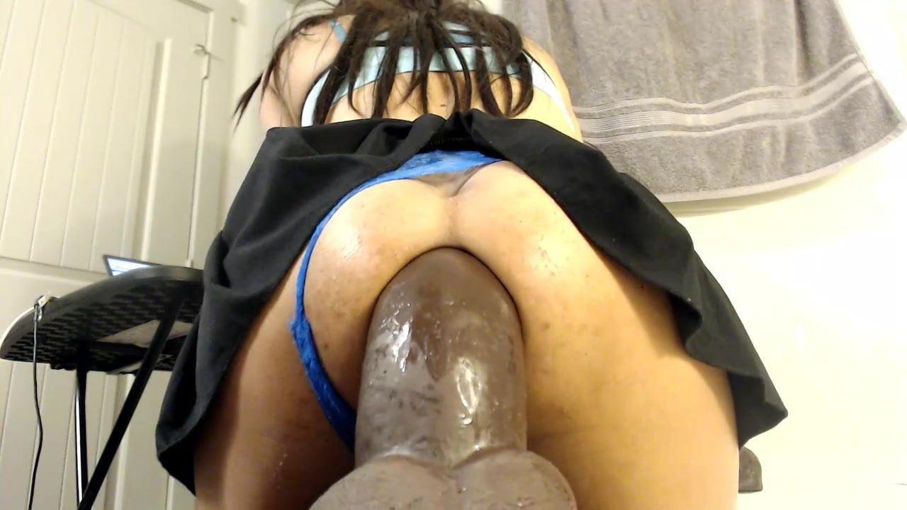 Redhead anal dildo-2121