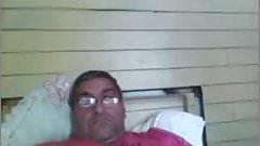 Abuelo maduro caliente en la webcam