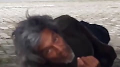 Homeless masturbating