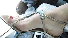 New Pedi and putting on my new ankle straps's Thumb