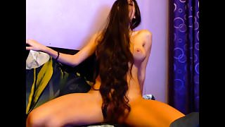 Sexy Long Haired Hairplay and Striptease, Long Hair, Hair