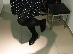 Black Patent Pumps with Pantyhose Teaser 29