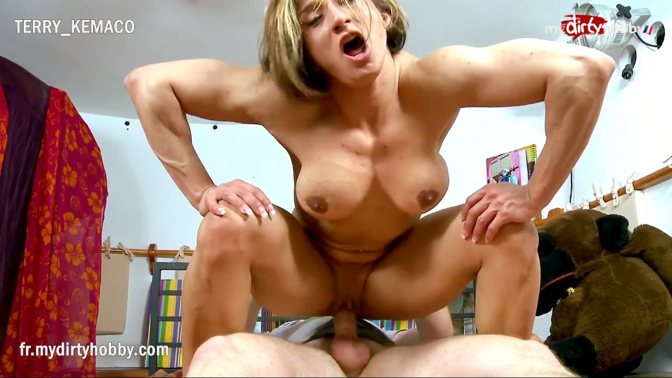 muscle man having sex with woman