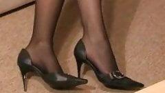 cum inside heels, and she wear it ...