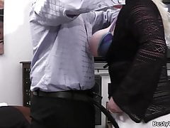 Clien licks and doggy-fucks her fat cunt
