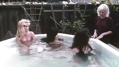 Raven, Ginger and Susan - Hot Tubbing With The Guys