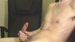 Delicious lad masturbates and cums on himself