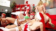 Their Christmas Group Fuck