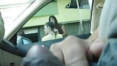 car flashing 3 girls