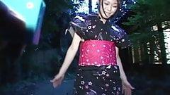 Remote Toyed Kimono girl in Public