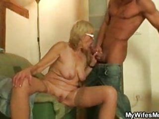 Muscled guy fucking his wifes mom