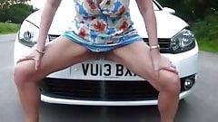 UK girl car piss