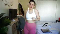 Geiles Teen Girl in hautengen geilen Leggings